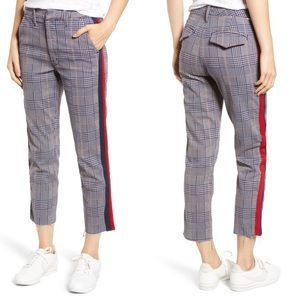 MOTHER THE SHAKER PREP FRAY PLAID PANT SIZE 32